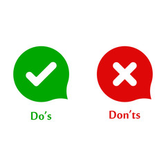 Do's and don'ts signs