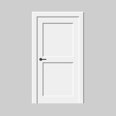 Vector door. Interior object element