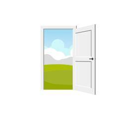 Vector door. Interior object element
