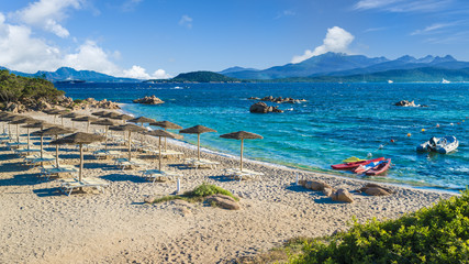 Spiaggia del Pirata Capriccioli, amazing beach of Emerald coast, east Sardinia island, Italy