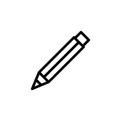 Pencil icon simple flat style outline illustration