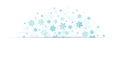 Banner Blue Snowflakes