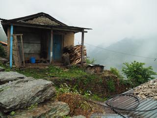Firewood and barn at Annapurna, Nepal