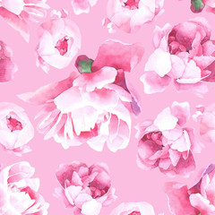 floral watercolor seamless pattern