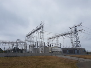 Power and distribution station in Hoek van Holland to connect the Maasvlakte  under the water