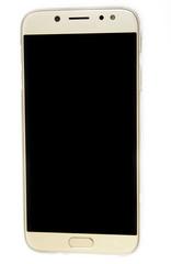 Telefono movil inteligente con el fondo de pantalla negra