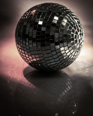 mirror ball.isolated on a dark background.