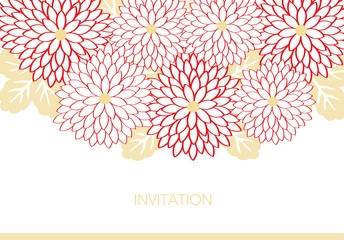 Invitation card design with flowers