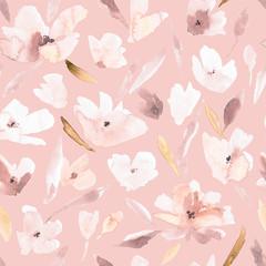 Flower seamless pattern.