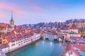 Fototapete - Old Town of Bern, capital of Switzerland