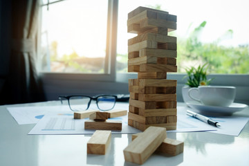 Planning, risk and strategy in business concept