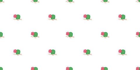 cactus seamless pattern vector flower plant Desert botanica garden summer background isolated repeat wallpaper