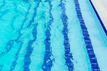 Foto op Canvas Kristallen floor paths in the swimming pool