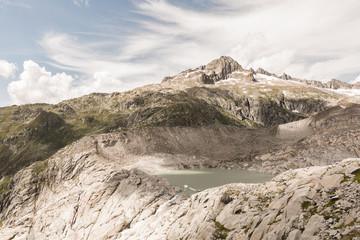 Lac du glacier du Rhône en Suisse