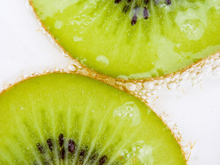 Close up texture background Kiwi fruit