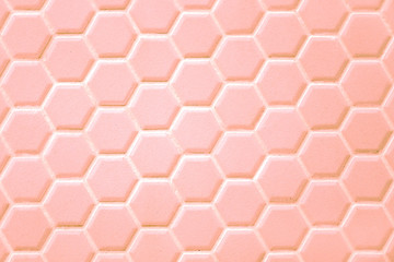 Abstract background, ceramic hexagon. Geometric hexagons.