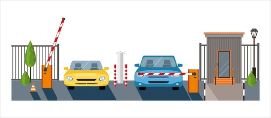 Automatic Rising Up Barrier, automatic system gate for security,