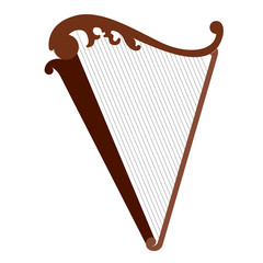 Isolated harp musical instrument