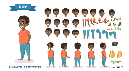 Boy character set for animation