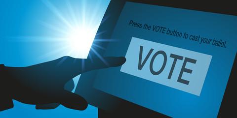élection - américaine - voter - écran - électeur - pouvoir - politique - choisir - démocratie