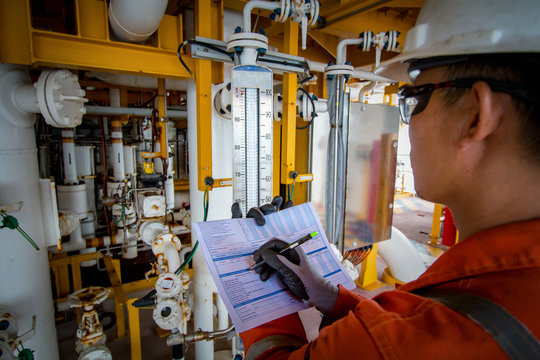 Technician,technician in oil and gas refinery industrial in the job record morning data.