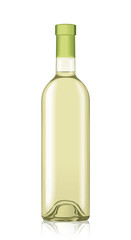 Vector Wine Bottle Mockup Template Isolated Drink Alcohol Beverage Liquid
