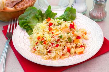 salade de riz et surimi