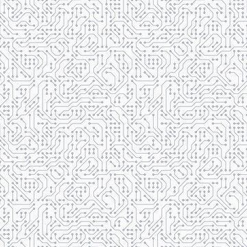 Computer circuit board. Seamless pattern