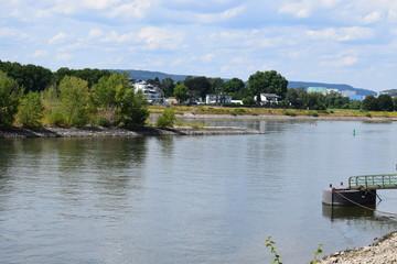 bei Niedrigwasser im Rhein