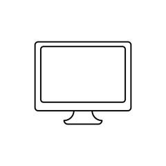 Computer line icon. PC icon. Computer monitor line icon.