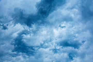 Nice blue stormy clouds