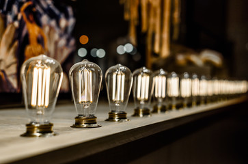 Vintage lamps. Retro bulbs
