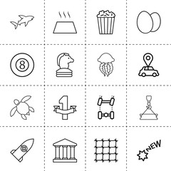 Set of 16 logo outline icons