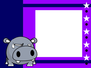 cute baby ball hippo cartoon expression background in vector format very easy to edit