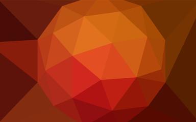 Dark Red vector triangle mosaic texture.
