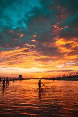 Fiery Beach Sunset 2