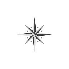 Compass vector design element, logo, travel agency concept