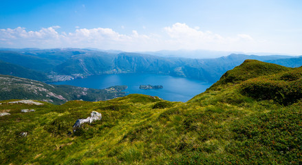 View over one of the fjords in norway
