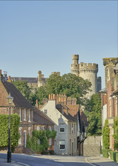 Arundel Castle from Maltravers Street