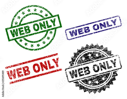 WEB ONLY seal prints with damaged texture  Black, green,red