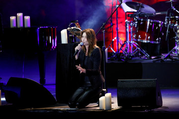 French-Italian singer Carla Bruni performs during the Beitiddine Art Festival in Beiteddine