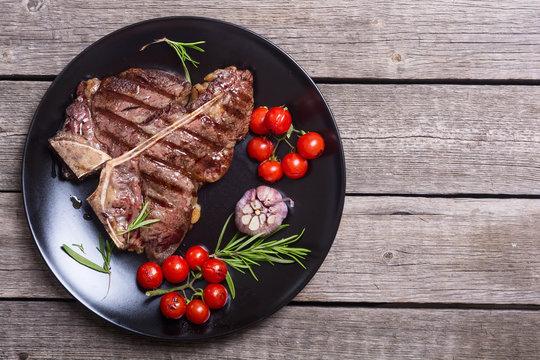 Grilled porterhouse beef steak