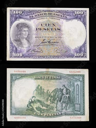 Billete De 100 Pesetas Ano 1931 Anverso Gonzalo Fernandez De
