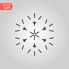 Snowflake icon, Snowflake icon vector, in trendy flat style isolated on white background. Snowflake icon image, Snowflake icon illustration