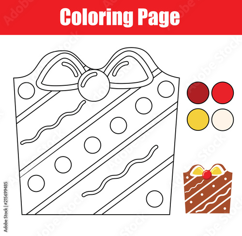 coloring page educational children game color christmas cookie drawing kids printable activity