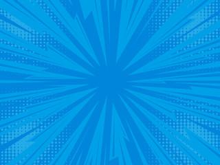 Pop art comic background lightning blast halftone dots.