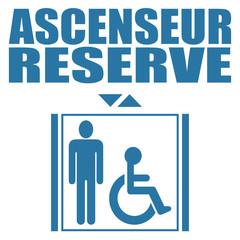 Logo ascenseur réservé.