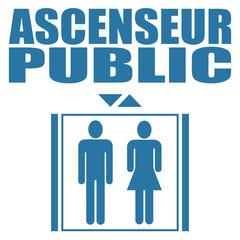 Logo ascenseur public.