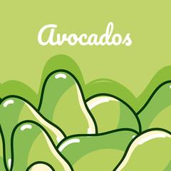 Avocados natural vegetables