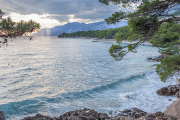 Lovely beach of Brela, Croatia